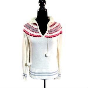 Kirra fair isle hooded sweater